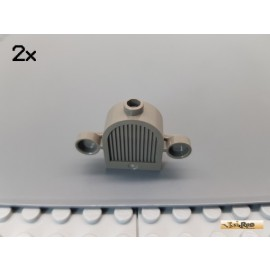 LEGO® 2Stk Kühlergrill 1x2x2 alt-dunkelgrau 30147