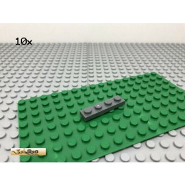 LEGO® 10Stk 1x4 Platte Plate Basic Dunkel Grau, Dark Gray 3710