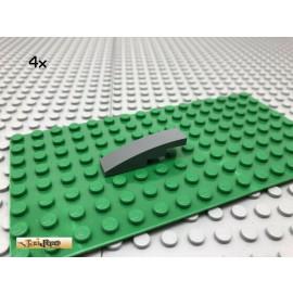LEGO® 4Stk 1x4 Bogenstein gebogen Basic Dunkel Grau, Dark Gray 61678