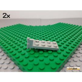LEGO® 2Stk Platte 2x4 modifiziert / Scharnier / Kupplung alt-hellgrau 3639