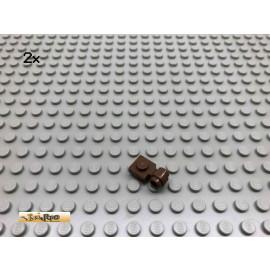 LEGO® 2Stk 1x1 Platte mit Öse Brick Braun, Brown 4081 131