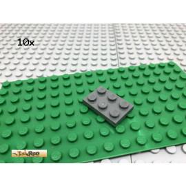 LEGO® 25Stk 2x3 Platte Basisplatte Plate Dunkel Grau, Dark Gray 3021