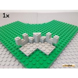 LEGO® 1Stk Battlements Turrent Top 7x7 octagon alt-hellgrau 6072