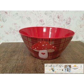 Schüssel rot mit Pilz aus Kunststoff