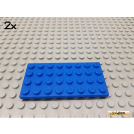 LEGO® 2Stk Platte Basic 4x8 blau 3035