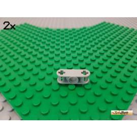 LEGO® 2Stk Technic Verbinder 3 lang Kreuzachse / Pin alt-hellgrau 32184