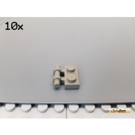 LEGO® 10Stk Platte 1x2 modifiziert Griff / Halterung alt-dunkelgrau 2540