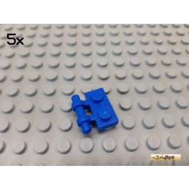 LEGO® 5Stk Platte 1x2 modifiziert mit Griff geteilt blau 2540