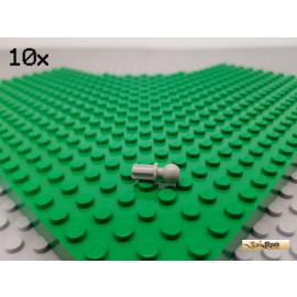 LEGO® 10Stk Technic Pin mit Kreuzachse und Kugelkopf alt-hellgrau 2736