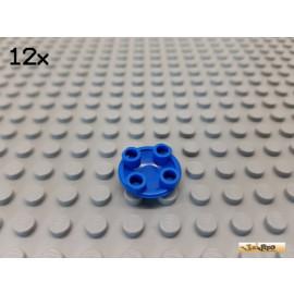 LEGO® 12Stk Platte Basic rund negativ 2x2 blau 2654
