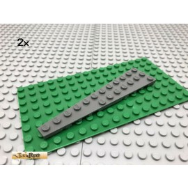 LEGO® 2Stk 3x12 Keilplatte Flügelplatte Platte Dunkel Grau, Dark Gray 47397