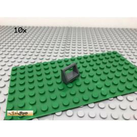 LEGO® 10Stk 1x2 Fliese Platte mit Griff Dunkel Grau, Dark Gray 2432