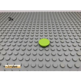 LEGO® 3Stk 2x2 Platte Fliese rund Limette, Lime 4150 11