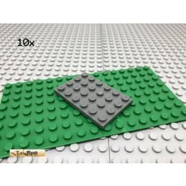 LEGO® 10Stk 4x6 Platte Basisplatte Plate Dunkel Grau, Dark Gray 3032