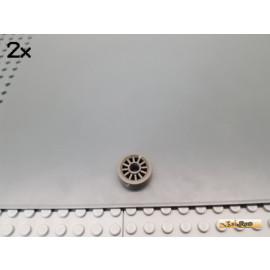 LEGO® 2Stk Rad / Felge 12 Speichen alt-dunkelgrau 30155