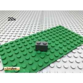 LEGO® 20Stk 1x2 Basic Stein Classic Dunkel Grau,Dark Gray 3004