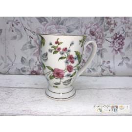 Clayre & Eef Kaffeetasse Teetasse Rosen Motiv Blumen Porzellan Vintage