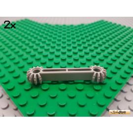 LEGO® 2Stk Technic Arm / Bionicle Zahnstange 2x9 alt-hellgrau 41666
