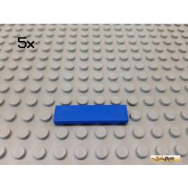 LEGO® 5Stk Fliese / Kachel 1x4 Basic blau 2431