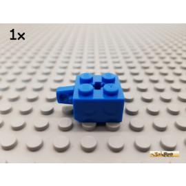 LEGO® 1Stk Stein 2x2 modifiziert mit Scharnier blau 30389