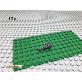 LEGO® Technic 12Stk Achs Kreuz Verbinder Dunkel Grau, Dark Gray 6553