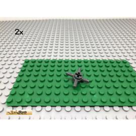 LEGO® 2Stk 1x3 Bogenstein Brücke Dunkel Grau, Dark Gray 4490
