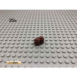 LEGO® 25Stk 1x2 Palisadensteine Brick Rotbraun, Reddish Brown 30136 177