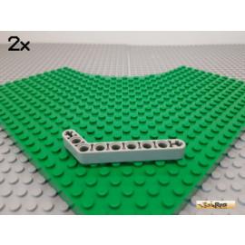 LEGO® 2Stk Technic Liftarm Ecke / Winkel alt-hellgrau 32271