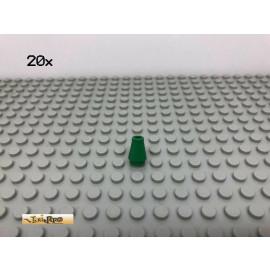 LEGO® 20Stk 1x1x1 Kegelstein Grün, Green 4589 57
