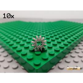 LEGO® 10Stk Technic Zahnrad 12 Zähne alt-hellgrau 32270