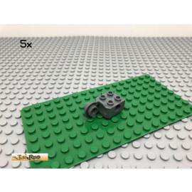 LEGO® Technic 5Stk 2x2 Rotationsstein Dunkel Grau, Dark Gray 48171