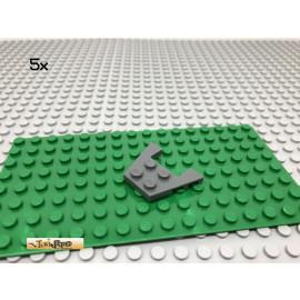 LEGO® 5Stk 3x4 Flügelplatte Keilplatte Grau, Dark Gray 90194