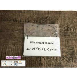 Deko Holzschild mit Spruch für Grillmeister