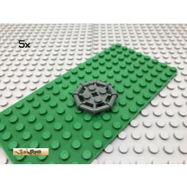 LEGO® 5Stk 2x2 Platte rund mit Griff Gitter Netz Dunkel Grau, Dark Gray 30033