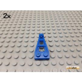 LEGO® 2Stk Flügel / Kupplung / Platte 2x4 blau 4596