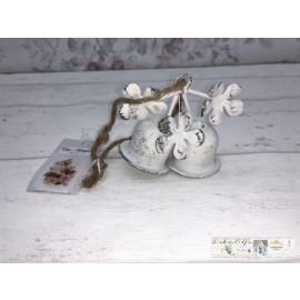 Chic Antique Glocke klein zum Hängen Weiß Shabby vintage
