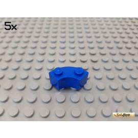 LEGO® 5Stk Brunnenstein  2x2 Viertelkreis blau 3063