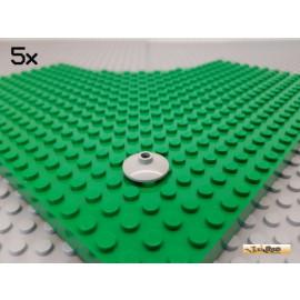 LEGO® 5Stk Scheibe / Teller / SAT Schüssel rund 2x2 alt-hellgrau 4740