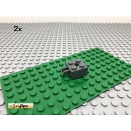 LEGO® 2Stk Technic 2x2 Rasterstein Dunkel Grau, Dark Gray 40902