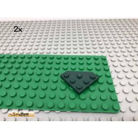 LEGO® 2Stk 3x3 Platte Eck schräg Dunkelgrün,Dark Green 2450 89