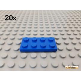 LEGO® 20Stk Platte Basic 2x4 blau 3020