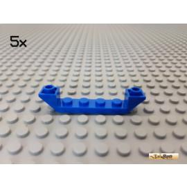 LEGO® 5Stk Schrägstein / Rumpf 1x6 negativ blau 52501