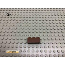 LEGO® 2Stk 1x3 Basic Stein Brick Braun, Brown 3622 70