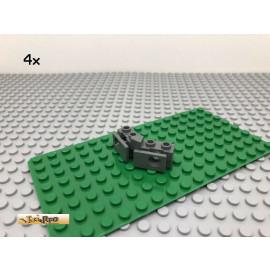 LEGO® Technic 4Stk Stoßstange Gummi Halter Dunkel Grau, Dark Gray 2991