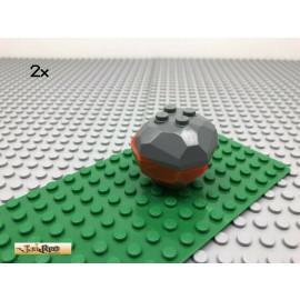 LEGO® 2Stk 4x4 Felsen Stein Dunkel Grau, Dark Gray 53933 53934