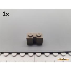 LEGO® 1Stk Stein 1x2 mit Nut / Führung alt-dunkelgrau 4216