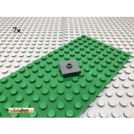 LEGO® 7Stk 2x2 Fliese Platte 1 Noppe mittig Dunkel Grau, Dark Gray 23893
