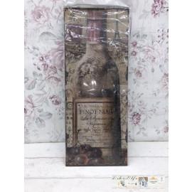 Blechschild Nostalgisch Weinflasche Wein Vintage Landhaus