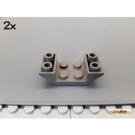 LEGO® 2Stk Platte 2x4 modifiziert / Boot 45° alt-dunkelgrau 4871