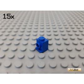 LEGO® 15Stk Stein 1x1 mit 1 Noppe seitlich / Kante blau 4070